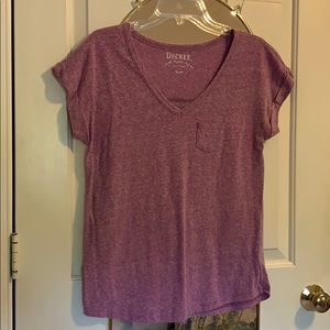 Decree Light Purple V-Neck Tee